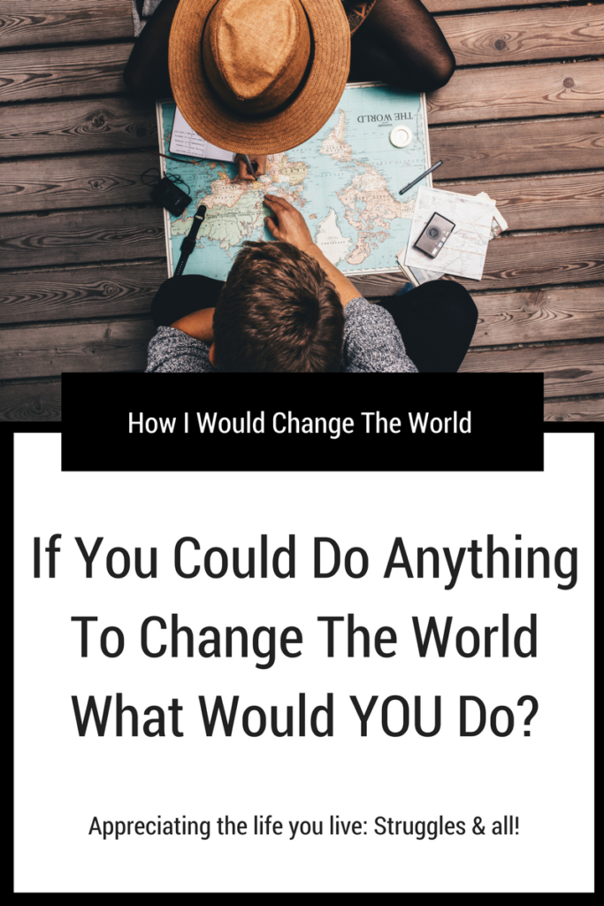 How I Would Change The World, If You Could Do Anything: Appreciating the life you live: Struggles and all