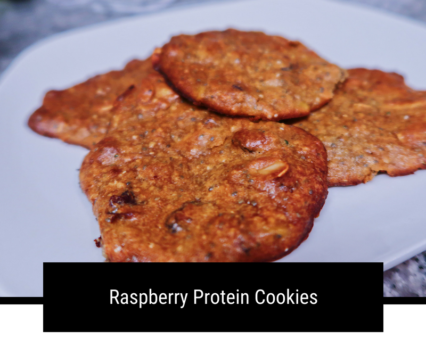 Protein-Packed HEALTHY Raspberry Cookies