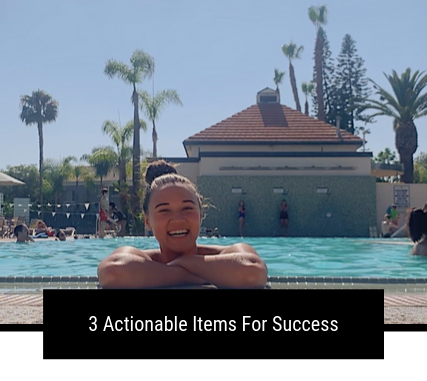 3 Actionable Items For Success